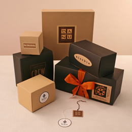 Giftware BoxesOatmeal and Black Kraft